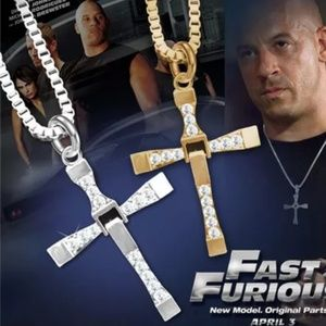 Set of 2 Fast & Furious Cross Necklaces